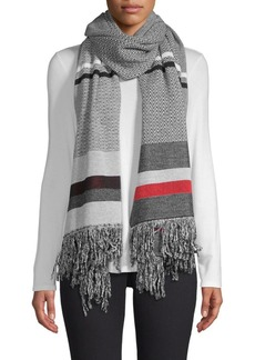 Stella McCartney Mixed PatternFringed Scarf