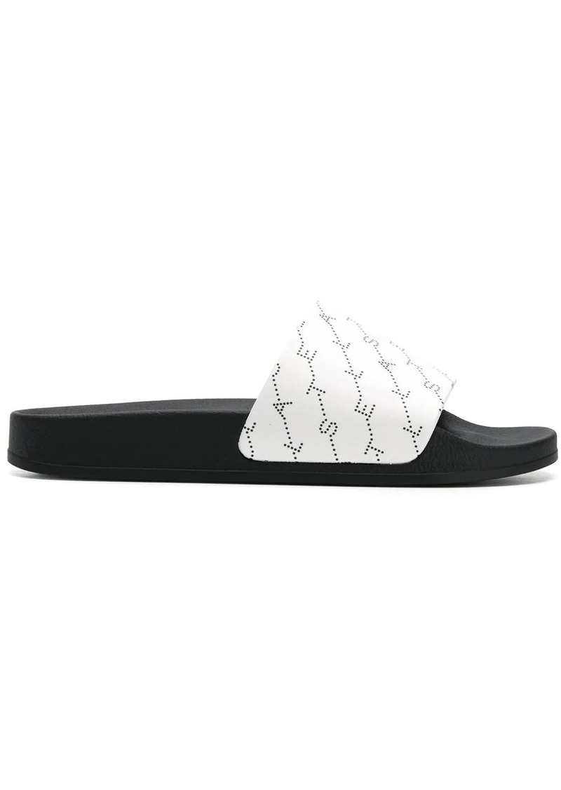 Stella McCartney monogram strap slides