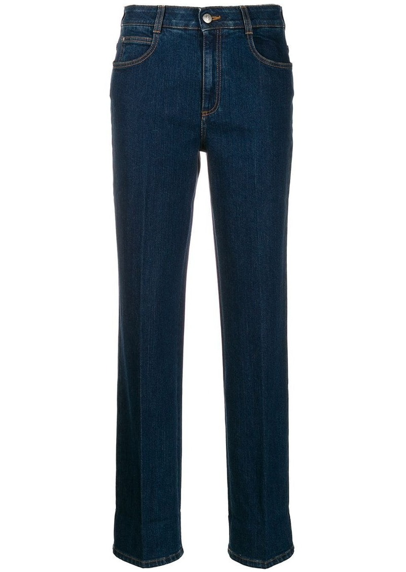 Stella McCartney monogram-trim straight-leg jeans