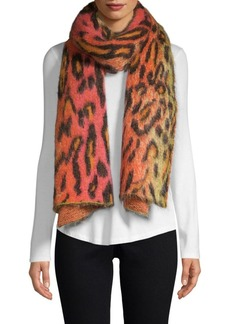 Stella McCartney Multicolor Leopard Print Scarf