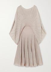 Stella McCartney Net Sustain Metallic Knitted Midi Dress