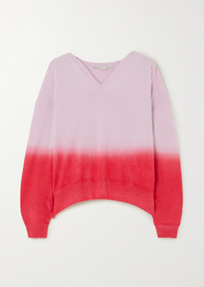Stella McCartney Net Sustain Ombré Cashmere And Wool-blend Sweater