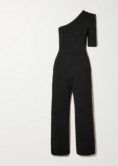 Stella McCartney Net Sustain One-sleeve Stretch-knit Jumpsuit