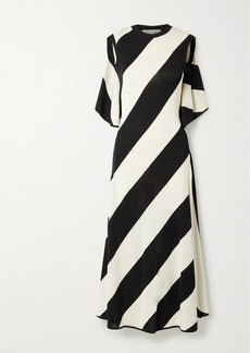 Stella McCartney Net Sustain Striped Stretch-knit Midi Dress