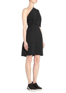 Stella McCartney One Shoulder Knot Detail Cadet Dress