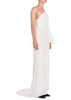 Stella McCartney One-Sleeve Column Gown