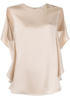 Stella McCartney open back draped blouse