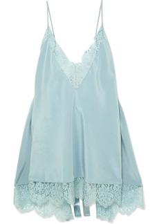 Stella McCartney Open-back Lace-trimmed Silk Camisole