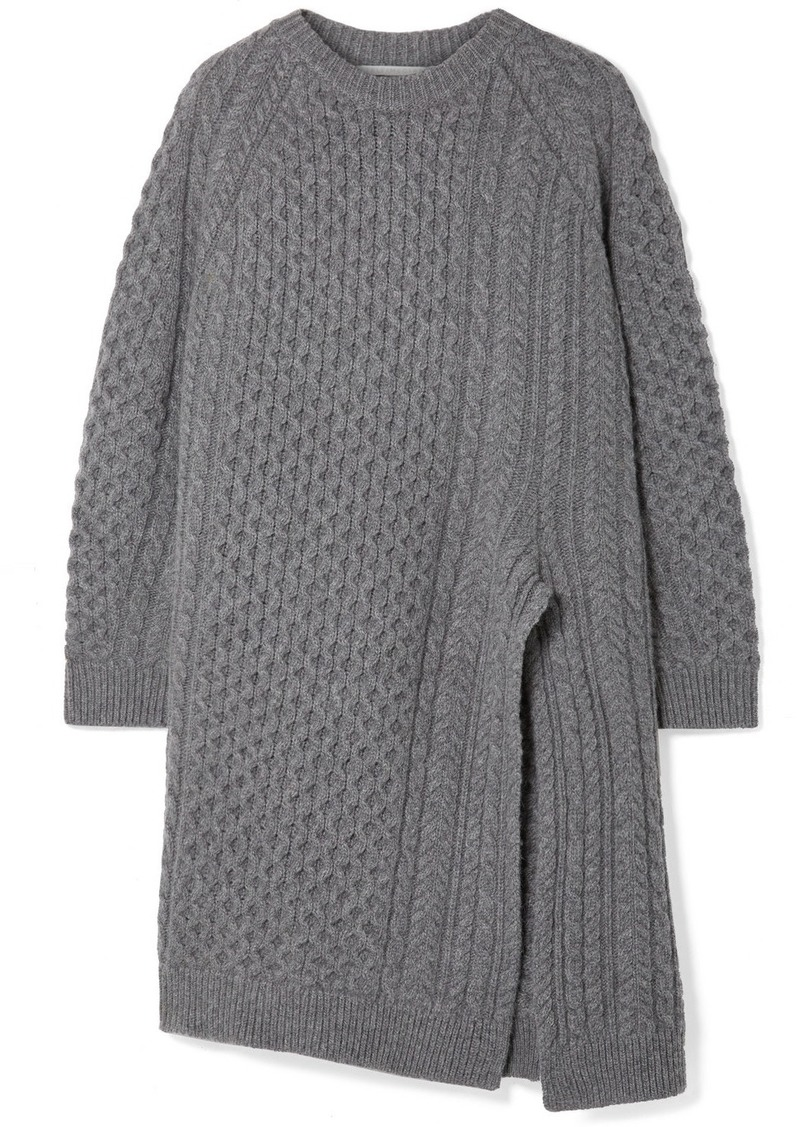 0500a9fcd6c1 Oversized Asymmetric Cable-knit Wool And Alpaca-blend Sweater. Stella  McCartney