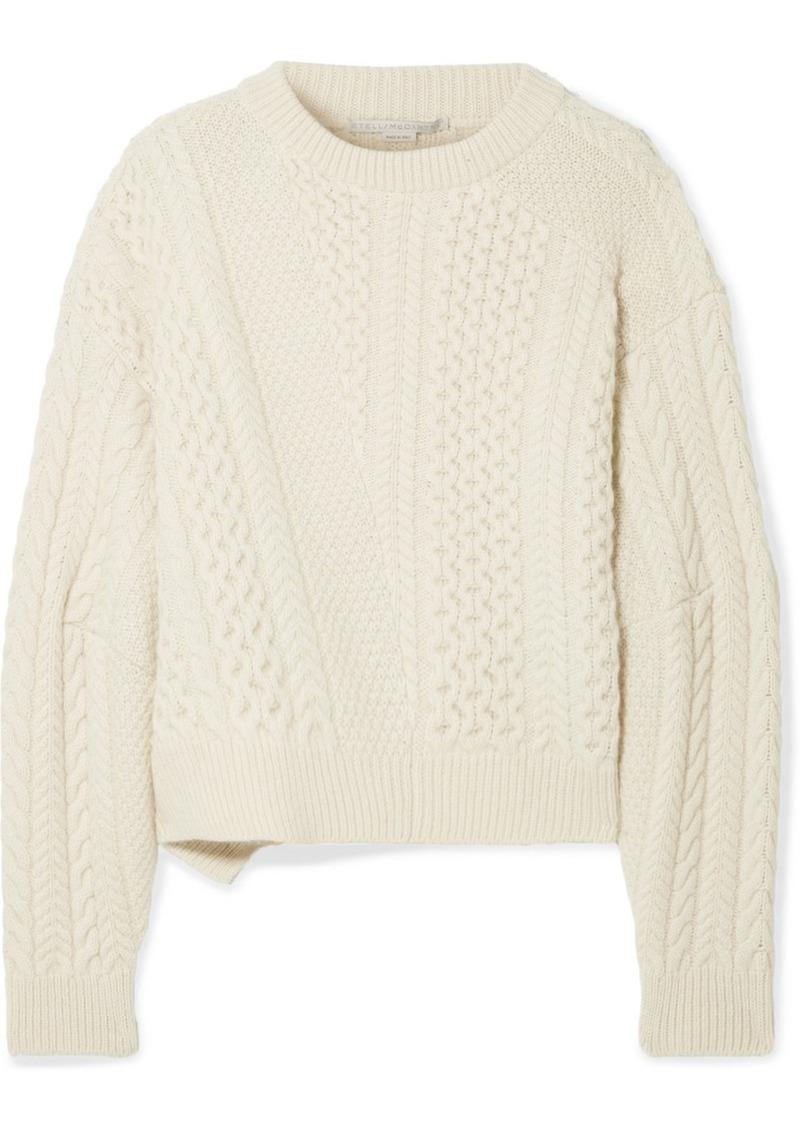 f9b06e140 Stella McCartney Oversized Cable-knit Wool And Alpaca-blend Sweater ...