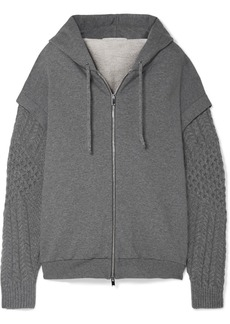 Stella McCartney Oversized Cotton-jersey And Wool And Alpaca-blend Hoodie