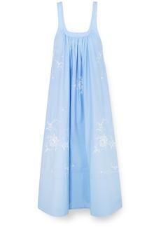 Stella McCartney Oversized Embroidered Cotton-poplin Maxi Dress