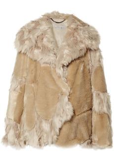 Stella McCartney Oversized Patchwork Faux Fur Coat