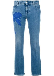 Stella McCartney palm tree kick jeans