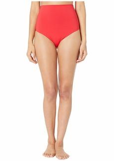 Stella McCartney Pansy Print Drapped High-Waist Bikini