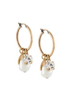 Stella McCartney pearl charm-detail hoop earrings