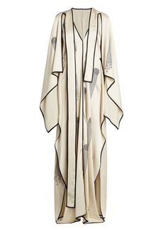 Stella McCartney Pearl Embellished Cape Dress