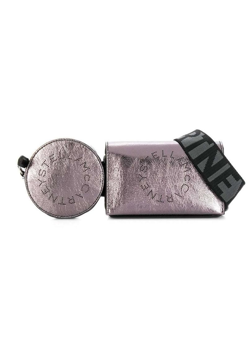 Stella McCartney perforated logo utility belt bag