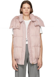 Stella McCartney Pink Fluid Velvet Vest