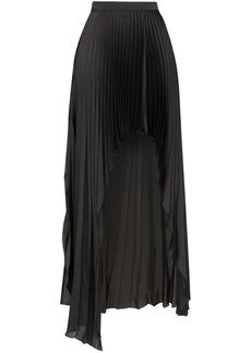 Stella McCartney pleated asymmetric open-front skirt