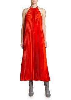 Stella McCartney Pleated Halter-Neck Midi Dress