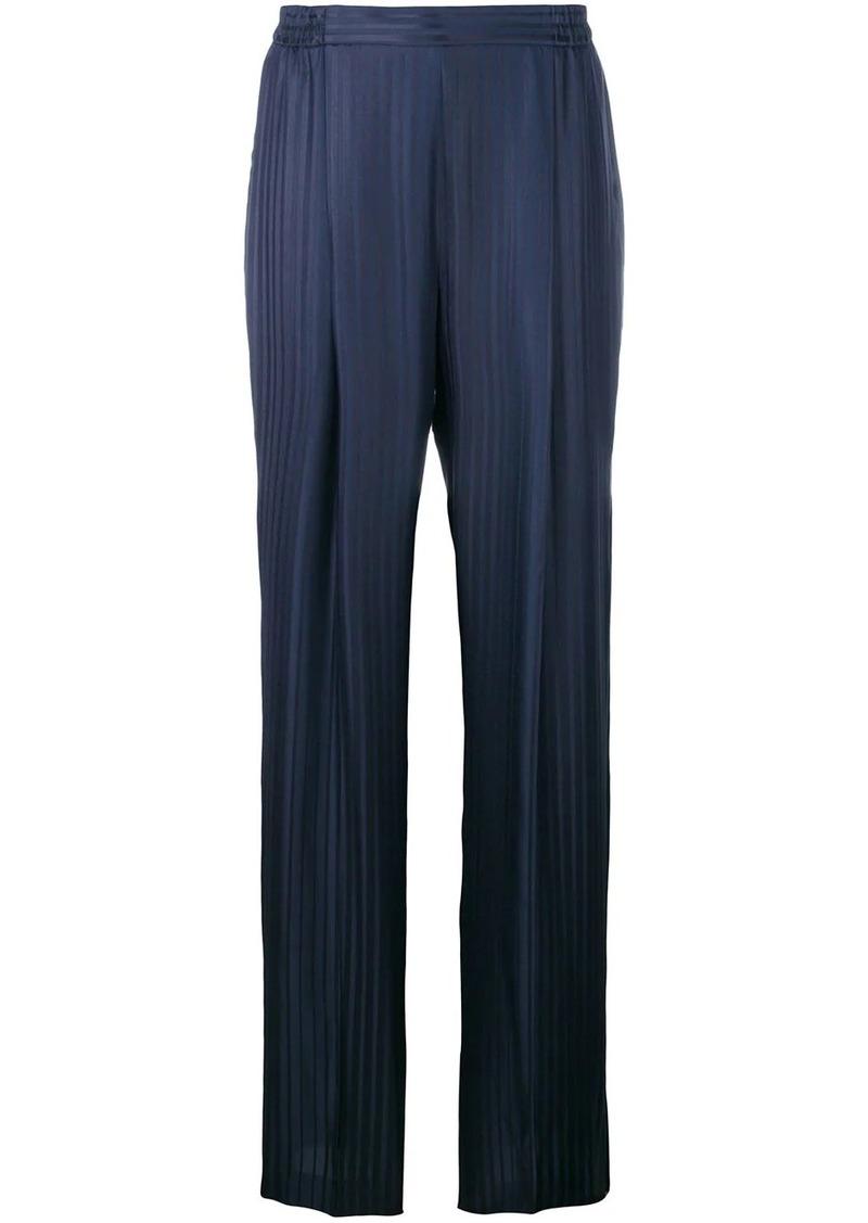 Stella McCartney plissé wide-leg trousers