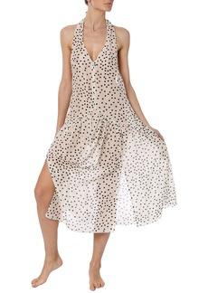 Stella McCartney Polka Dot Halter Coverup Dress