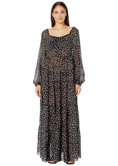 Stella McCartney Polka Dot Print Swim Long Dress