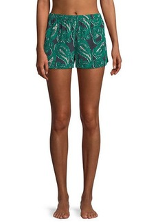 Stella McCartney Poppy Snoozing Paisley-Print Lounge Shorts