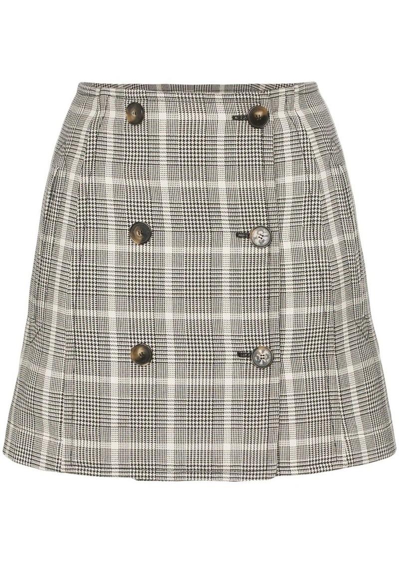 Stella McCartney Prince of Wales checked mini skirt