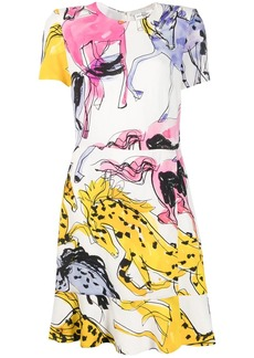 Stella McCartney horse-print mini dress