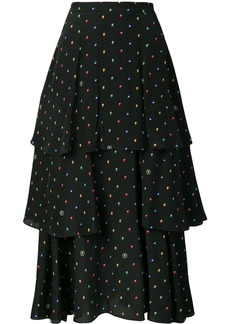 Stella McCartney printed ruffled skirt