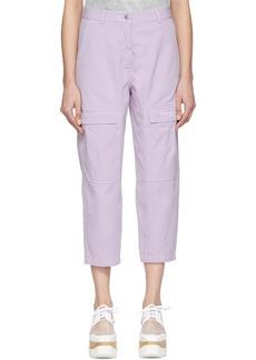 Stella McCartney Purple Twill Trousers