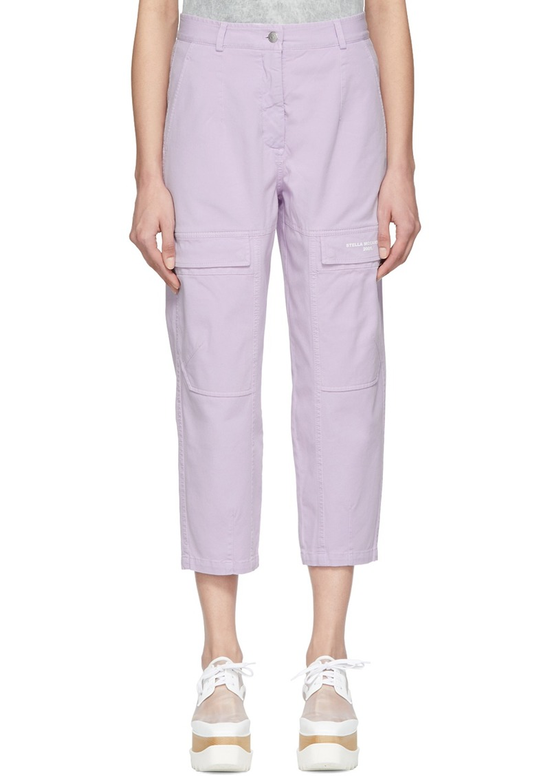 Stella McCartney Purple Twill Trousers
