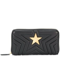 Stella McCartney quilted star zip around wallet