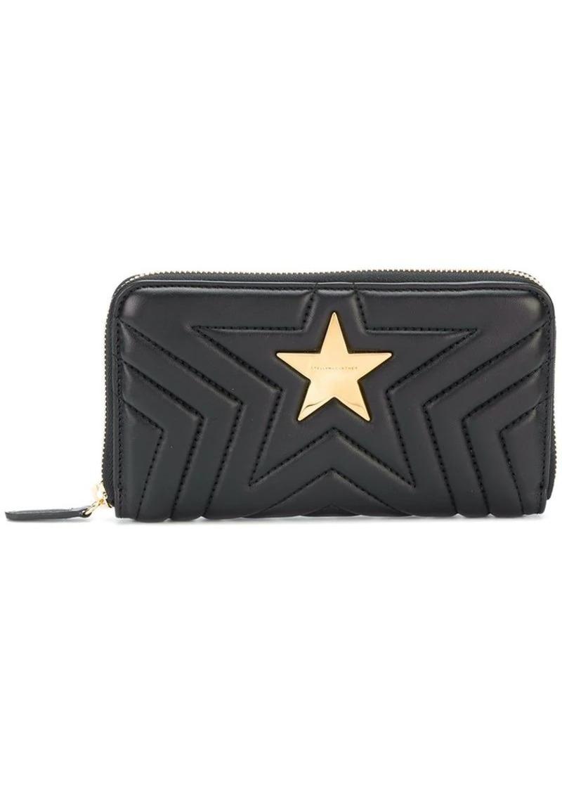 Stella McCartney quilted star zip around wallet