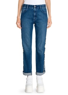 Stella McCartney Relaxed Leg Cuffed Logo Jeans