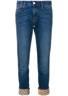 Stella McCartney retro checked straight jeans