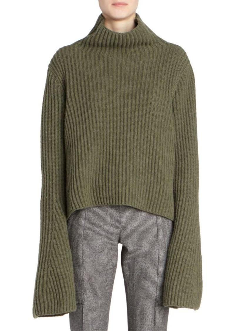 Stella McCartney Rib-Knit Wool & Cashmere Turtleneck Sweater