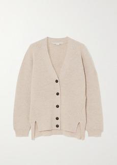 Stella McCartney Ribbed Wool And Alpaca-blend Cardigan