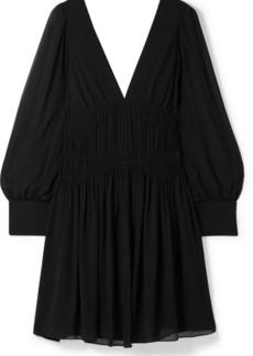 Stella McCartney Ruched Silk-crepe Mini Dress