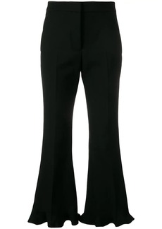 Stella McCartney ruffle flare tailored trousers