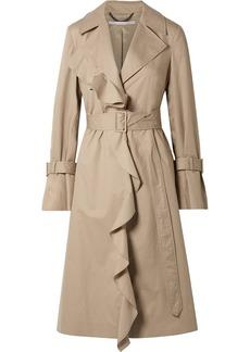 Stella McCartney Ruffled Cotton-twill Trench Coat