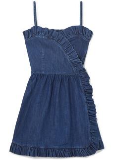 Stella McCartney Ruffled Denim Wrap Mini Dress