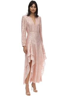 Stella McCartney Ruffled Silk & Lurex Jacquard Dress