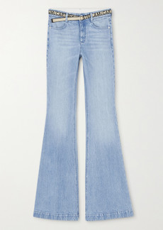 Stella McCartney Salt & Pepper Belted Mid-rise Flared Jeans
