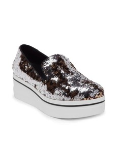 Stella McCartney Sequin Platform Slip-On Shoes
