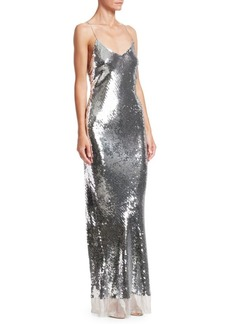Stella McCartney Sequin Tulle Hem Slip Dress