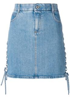 Stella McCartney side lace-up denim skirt