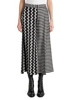 Stella McCartney Silk Stripe Midi Skirt